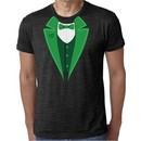 St Patricks Day Mens Shirt Irish Tuxedo Burnout Tee T-Shirt