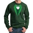 St Patricks Day Mens Sweatshirt Irish Tuxedo Sweat Shirt