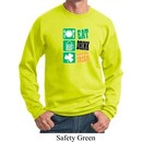 St Patricks Day Sweatshirt Eat Drink Be Irish Sweat Shirt