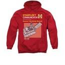Star Trek Hoodie Communicator Manual Red Sweatshirt Hoody