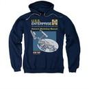 Star Trek Hoodie Enterprise Manual Navy Sweatshirt Hoody
