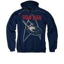 Star Trek Hoodie Ship Symbol Navy Sweatshirt Hoody