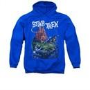 Star Trek Hoodie Vulcan Battle Royal Blue Sweatshirt Hoody