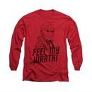 Star Trek Shirt Feel My Wrath Long Sleeve Red Tee T-Shirt