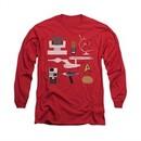 Star Trek Shirt Gift Set Long Sleeve Red Tee T-Shirt