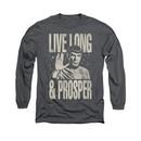 Star Trek Shirt Prosper Long Sleeve Charcoal Tee T-Shirt