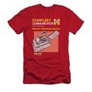 Star Trek Shirt Slim Fit Communicator Manual Red T-Shirt
