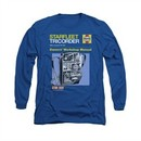 Star Trek Shirt Tricorder Manual Long Sleeve Royal Blue Tee T-Shirt