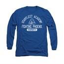 Star Trek Shirt Varsity Long Sleeve Royal Blue Tee T-Shirt