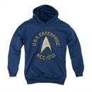 Star Trek Youth Hoodie Distressed NCC-1701 Navy Kids Hoody