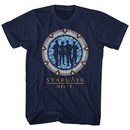 Stargate SG-1 Shirt Silhoutte Gate Navy Blue T-Shirt