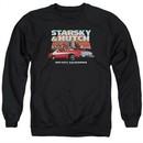 Starsky And Hutch Sweatshirt Bay City Adult Black Sweat Shirt