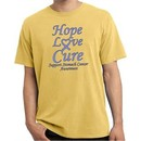 Stomach Cancer Tee Hope Love Cure Pigment Dyed Shirt
