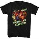 Street Fighter Shirt Never Succed Black T-Shirt