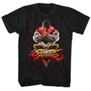Street Fighter Shirt V Logo 2 Black T-Shirt
