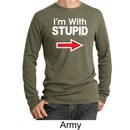 Stupid Shirt I?m With Stupid White Print Adult Thermal Shirt