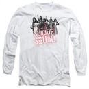 Suicide Squad Long Sleeve Shirt Splatter White Tee T-Shirt
