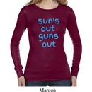 Suns Out Guns Out Ladies Long Sleeve Thermal Shirt