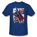 Superman Shirt The Man Of Steel Panels Royal Blue T-Shirt Tee