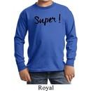 Super Black Print Kids Long Sleeve Shirt
