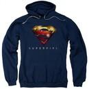 Supergirl Hoodie Logo Glare Navy Blue Sweatshirt Hoody