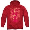 Supergirl Hoodie Ready Set Red Sweatshirt Hoody