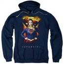Supergirl Hoodie Standing Symbol Navy Blue Sweatshirt Hoody