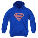 Supergirl Kids Hoodie Logo Royal Blue Youth Hoody