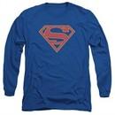 Supergirl Long Sleeve Shirt Logo Royal Blue Tee T-Shirt