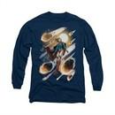 Supergirl Shirt #1 Long Sleeve Navy Blue Tee T-Shirt