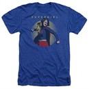 Supergirl Shirt Classic Hero Heather Royal Blue T-Shirt