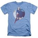 Supergirl Shirt Cloudy Circle Heather Light Blue T-Shirt