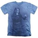Supergirl Shirt Girl Of Steel Heather Light Blue T-Shirt