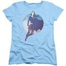 Supergirl Womens Shirt Cloudy Circle Light Blue T-Shirt