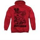 Superman Hoodie Breaking Chains Red Sweatshirt Hoody