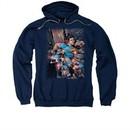 Superman Hoodie Bullet Proof Navy Sweatshirt Hoody