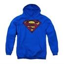Superman Hoodie Charcoal Shield Royal Blue Sweatshirt Hoody