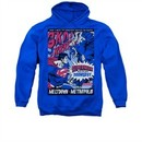 Superman Hoodie Meltdown Royal Blue Sweatshirt Hoody