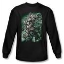 Superman Long Sleeve Shirt DC Comics Darkseid Doomsday Black T-Shirt