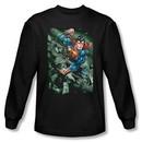 Superman Long Sleeve T-shirt DC Comics Indestructible Black Tee Shirt