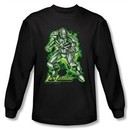 Superman Long Sleeve Shirt DC Comics Kryptonite Lux Luther Black Shirt