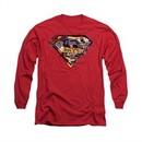 Superman Shirt American Way Long Sleeve Red Tee T-Shirt