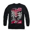 Superman Shirt Day Of Doom Long Sleeve Black Tee T-Shirt