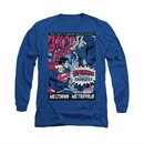 Superman Shirt Meltdown Long Sleeve Royal Blue Tee T-Shirt