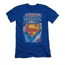 Superman Shirt Slim Fit The Legend Royal T-Shirt