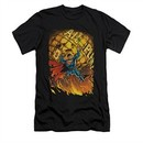 Superman Shirt Slim Fit V-Neck Planet Lift Black T-Shirt