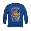 Superman Shirt The Legend Long Sleeve Royal Tee T-Shirt
