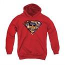 Superman Youth Hoodie American Way Red Kids Hoody