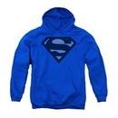 Superman Youth Hoodie Navy Shield Royal Blue Kids Hoody