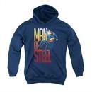 Superman Youth Hoodie Steel Flight Navy Kids Hoody